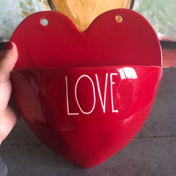 Rae Dunn Valentines Love Heart Ceramic Red